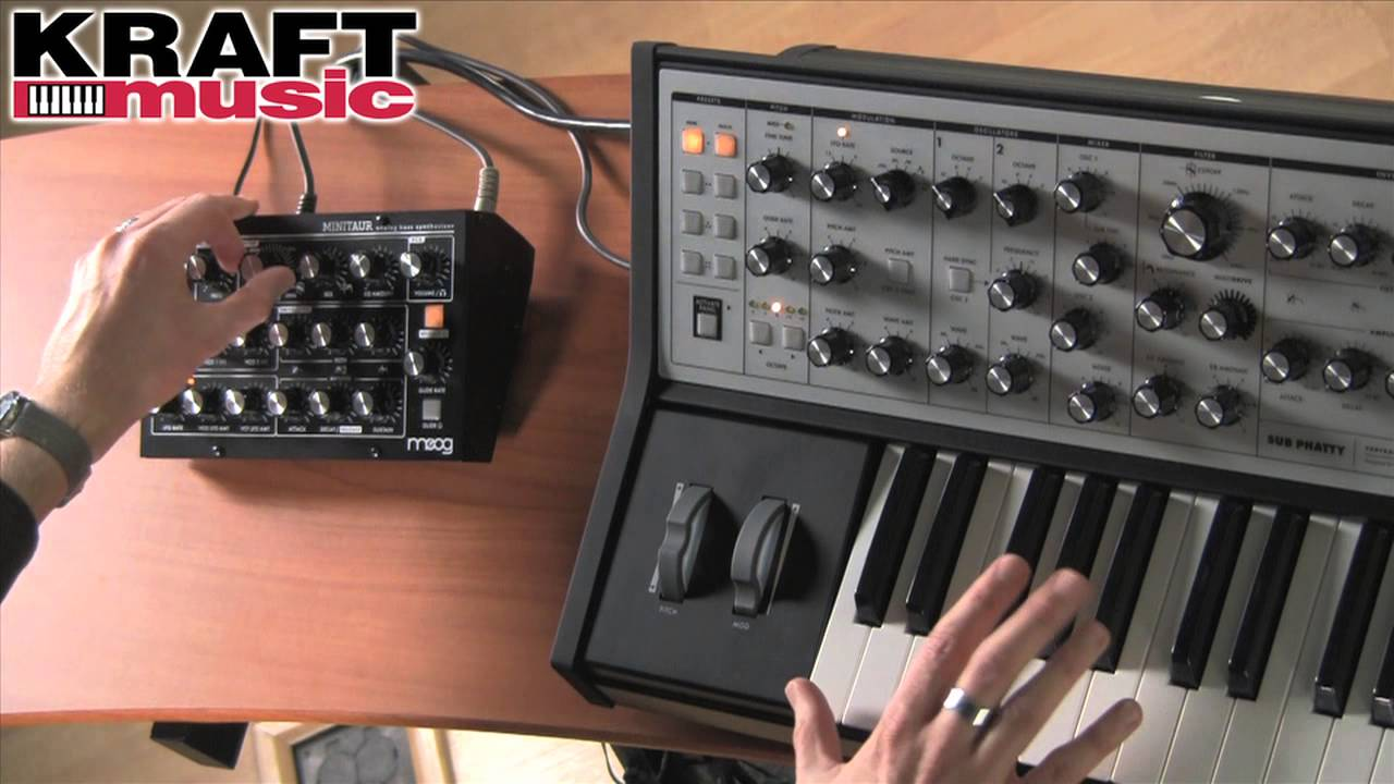 Kraft Music Moog Minitaur Demo With Jake Widgeon Youtube