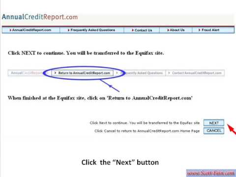 How to get your FREE Credit Report online -  EQUIFAX