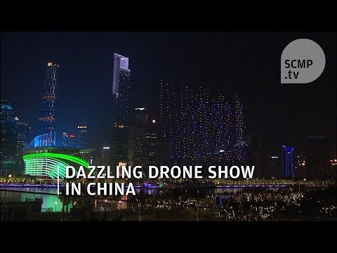 China Drone Show: more than 1,000 drones put on light show in China