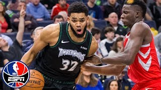 Karl-Anthony Towns, Timberwolves use big second half to propel past Rockets | NBA Highlights