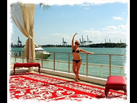 Miami Beach BIKINI workout, Best Leg, Thigh, Ab, Arms and Cardio Workout
