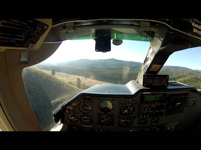 Short flight from ranch to Chamberlain USFS airstrip