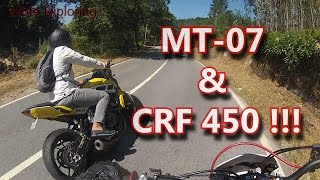 Yamaha MT-07 /FZ-07 & Honda CRF450 on Twistys!!!! [RAW] (video ends at 3:33)