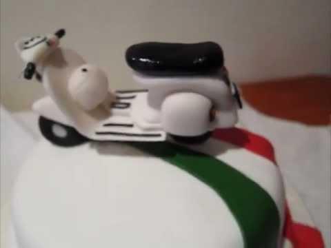 Torta Vespa 50 Vespa Motor bike Birthday Cake YouTube