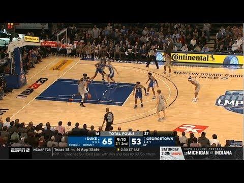 Duke Vs Georgetown Full Game HD | NCAA College Basketball LIVE 11/22/2019