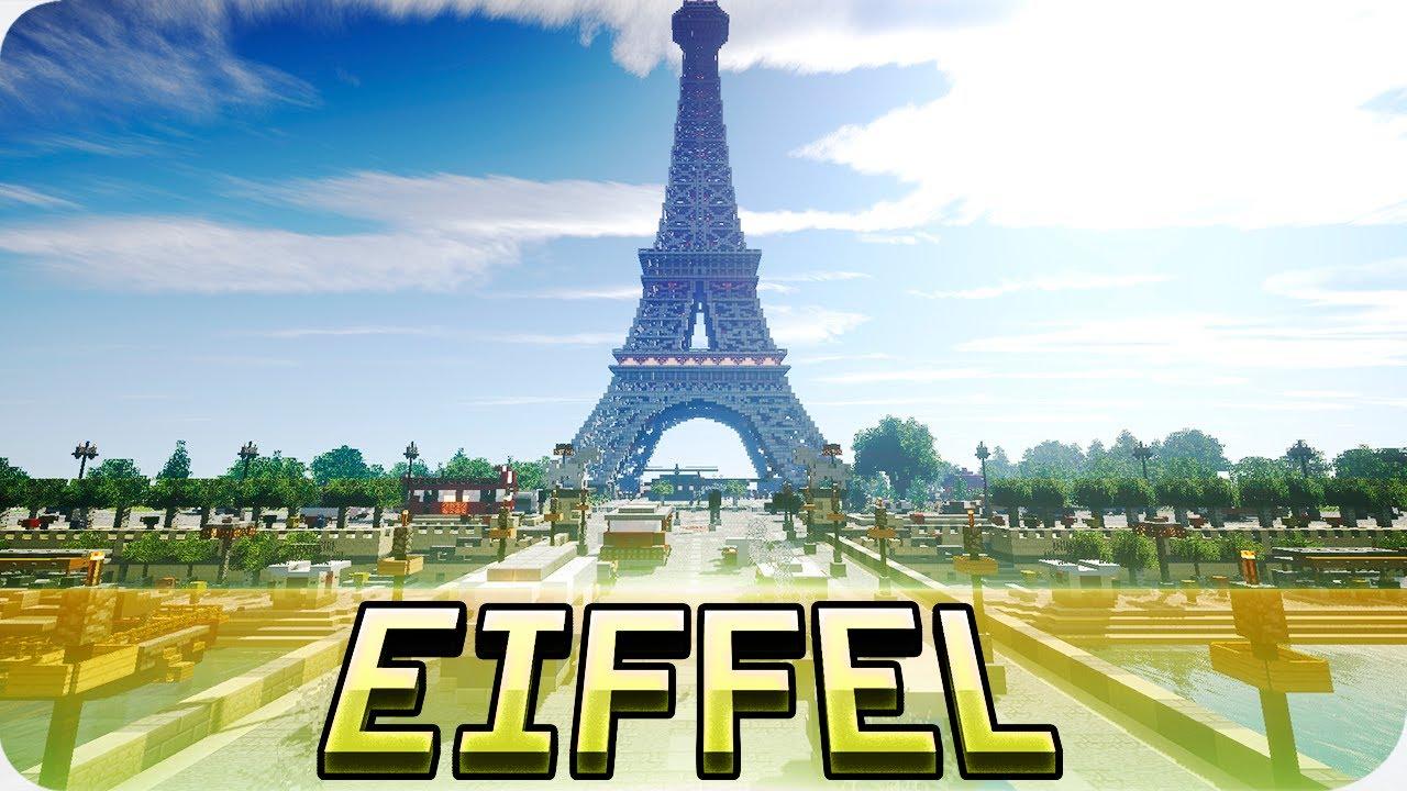 Minecraft Eiffel Tower In Minecraft Huge Paris Map Youtube
