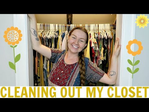 CLEANING OUT MY CLOSET | MEGHAN HUGHES