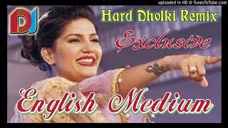 Dj Remix    English Medium Sapna Chaudhary Vicky Kajla Dj Chandan Shakya
