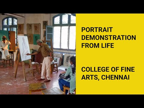 Oil Painting Live demonstration at College of Fine Arts, Chennai