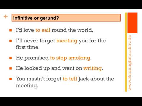 Gerund Or Infinitive Exercises At An Intermediate Level Youtube