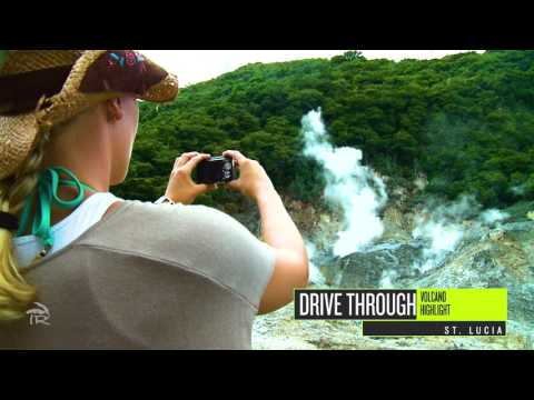 Drive Through Volcano in St. Lucia