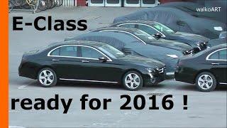 """""""فيديو"""" مرسيدس اي كلاس 2016 الجديد كلياً يظهر قبل شحنه الى وكلاء مرسيدس نحو العالم Mercedes-Benz E-Class 2016"""