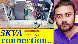 Connection 5KVA automatic stabilizer...