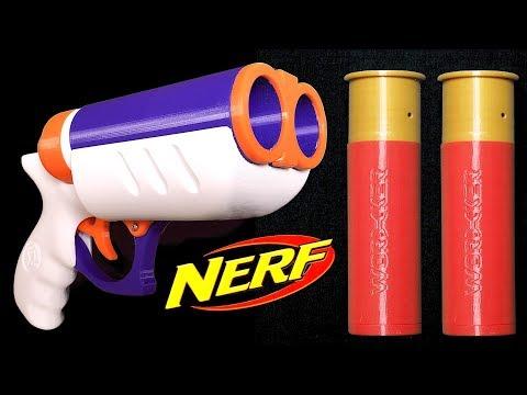 Double Barrel Nerf Dart Blasting Shotgun Pistol With Shells!