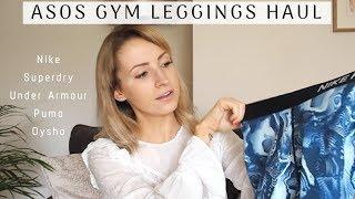 ASOS GYM LEGGING HAUL & TRY ON! | Ella Ryder #matchamornings
