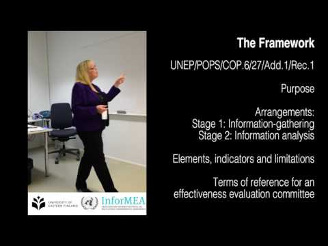 The Stockholm Convention Effectiveness Evaluation - Process and Framework