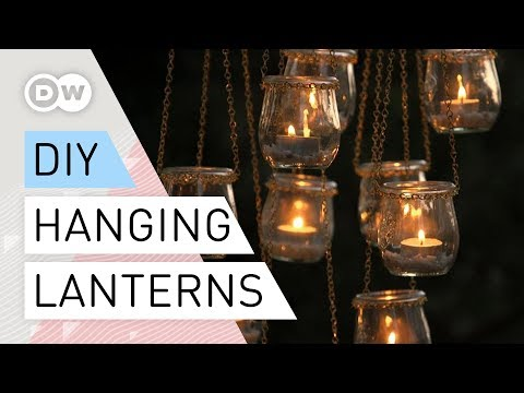 DIY Hanging lanterns | Tutorial quick and easy | Hanging jars - recycling household items