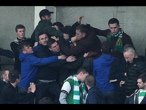 Cheltenham - Yeovil Town fans fighting each other