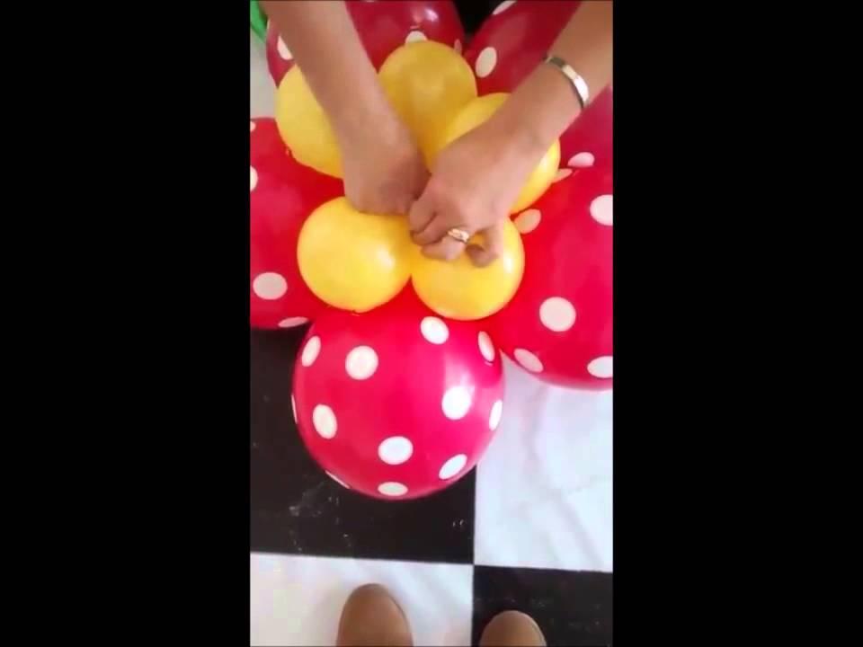 Decoracion con globos tema peppa pig parte 2 youtube - Decorar con globos ...