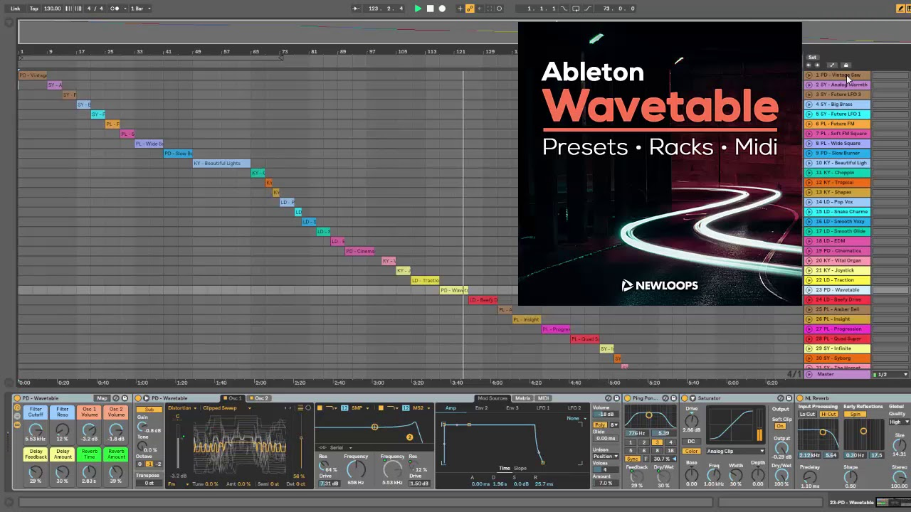 Ableton Wavetable Presets and Racks (Ableton Live 10)