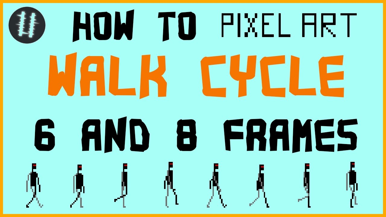 891e668209 How To Pixel Art Tutorials [17] - Walk Cycle (6 & 8 frames) - YouTube