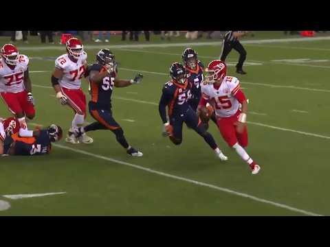 Patrick Mahomes Unreal Left Handed Pass | Chiefs vs Broncos