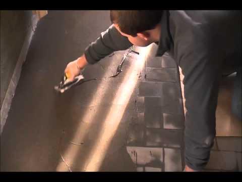 aanbrengen stuc deco op oude betegelde vloer, Meubels Ideeën