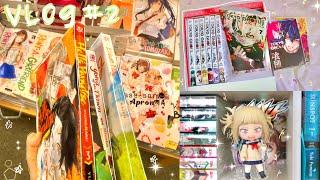 vlog #2 // tokyo ghoul box set, nendoroid unboxing, manga shopping, school, etc. ♀