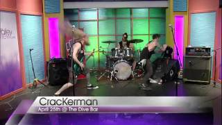 Punk band goes crazy on live TV.