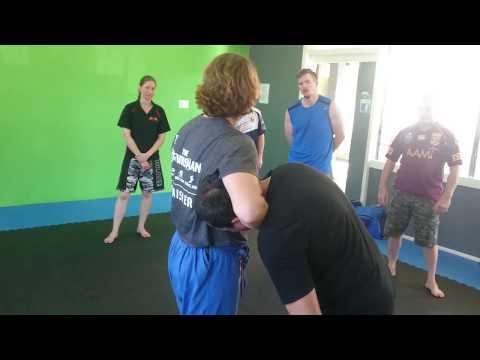 Charters Towers Training Camp Judo to Knee strike Sophia Jane