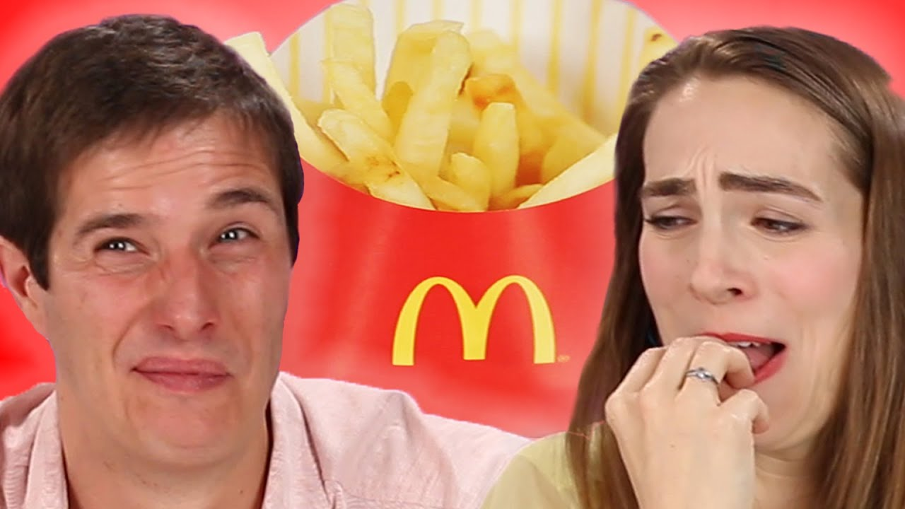 French People Try American McDonalds Fries For The First Time