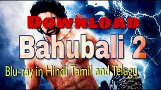 Download Bahubali 2 conclusion 2017 Blu Ray Mkv with dual audio in Hindi Tamil and Telugu