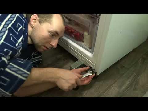 Перевесить дверь холодильника  Samsung RL 46 RSCSW . Как перенавесить дверь холодильника