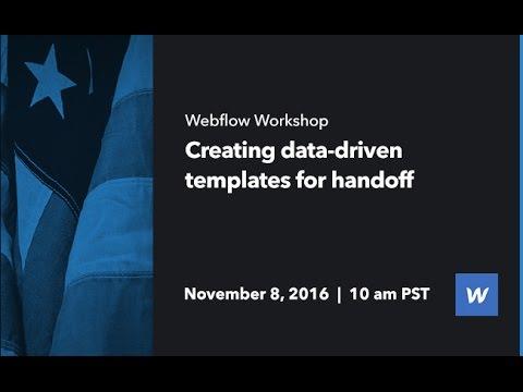 Webflow Workshop #59: Creating data-driven templates for handoff