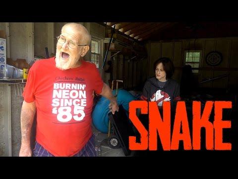 GRANDPA SAW A SNAKE!! (FREAKOUT)
