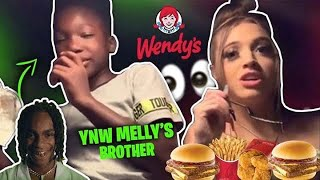 WENDYS MUKBANG WITH YNW LIL BROTHER (HE DID WHAT!! WITH HIS GIRLFRIEND AT 12!) ll WOAH VICKY