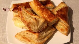 Хачапури с Сыром из Слоеного Теста Вкусный и Простой Рецепт