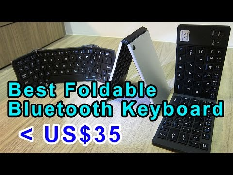 Best Foldable Bluetooth Keyboards for under US$35!