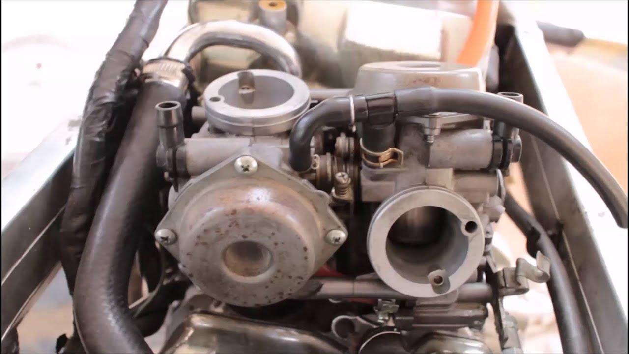 stuck carb slide youtube rh youtube com Honda CB750 Honda 650 Motorcycle 2016