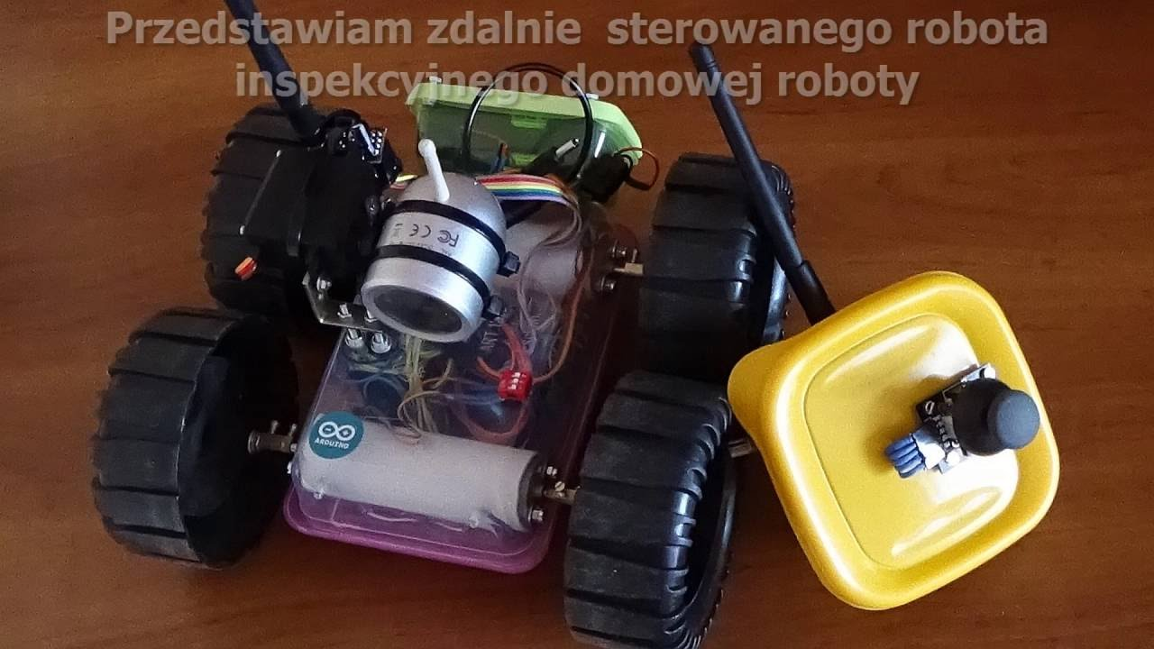 Arduino robot diy rc inspekcyjny homemade