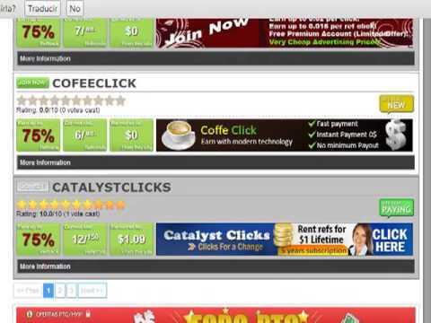 Gane dinero por ser referido en las ptcs con refback.net