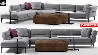 "№24. Sofa modeling ""FLEXFORM ADDA"" в 3d max и marvelous designer"