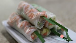 vietnamese spring rolls with peanut butter sauce gỏi cuốn
