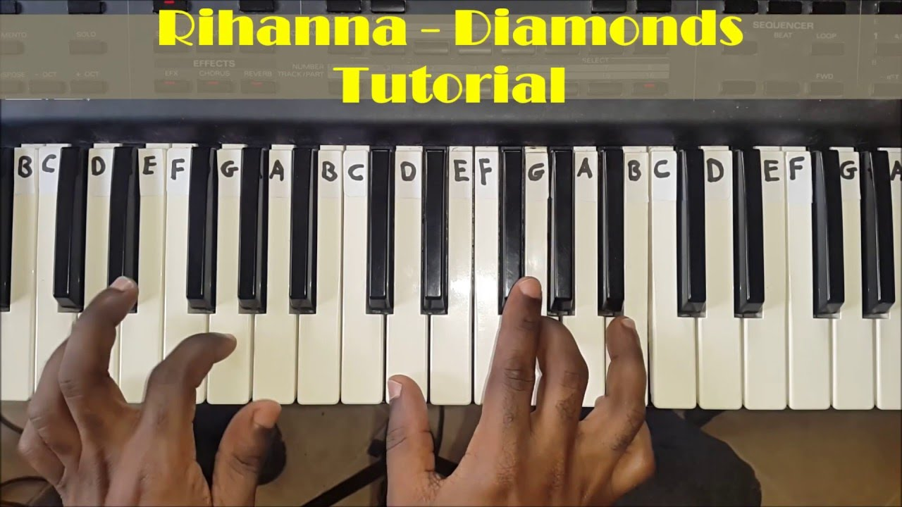 How to play rihanna diamonds easy piano chords tutorial for how to play rihanna diamonds easy piano chords tutorial for beginners hexwebz Image collections