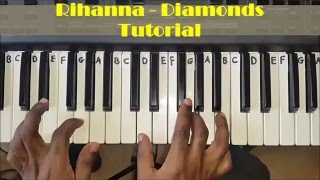 How to Play Rihanna - Diamonds. Easy Piano Chords Tutorial for Beginners