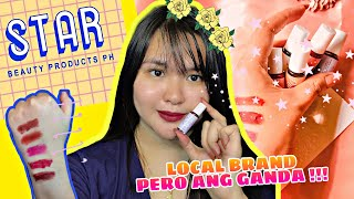 💜 MATTE LIP STAINS | STAR BEAUTY PRODUCTS PH | PRODUCT REVIEW + FIRST IMPRESSION