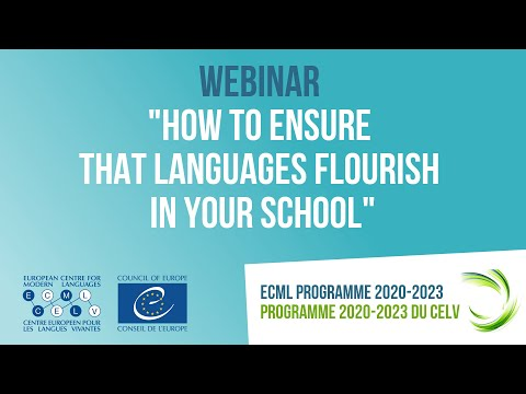 """Webinar: """"How to ensure that languages flourish in your school"""""""