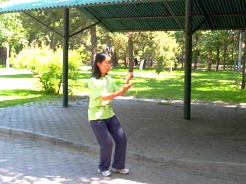 TAI CHI PRACTICING STUDENT ON THE BEIJING UNIVERSITY CAMPUS