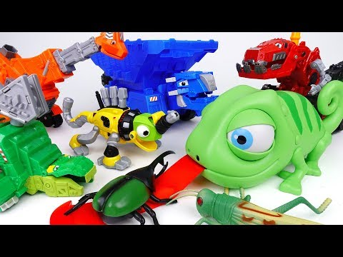 Thumbnail: Angry RepTool Turns Into Giant Chameleon~! Go Dinotrux Stop The Angry RepTool