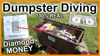 Found Real One Carat Diamond and Money Dumpster Diving #273